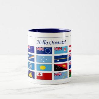 Banderas de Oceanía Taza De Dos Tonos
