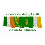Banderas de Offaly del condado Postal