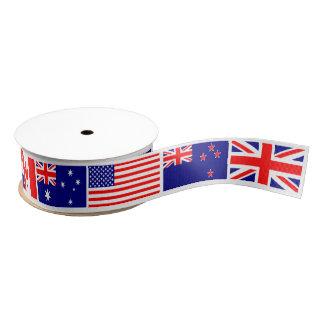 Banderas de país lazo de tela gruesa