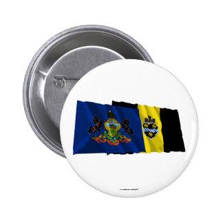 Banderas de Pennsylvania y de Pittsburgh Pins