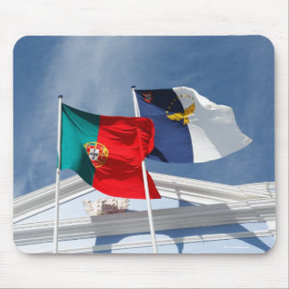 Banderas de Portugal y de Azores Mouse Pad