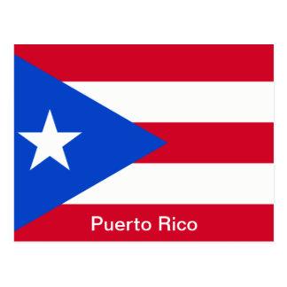 Banderas de Puerto Rico Tarjeta Postal