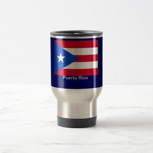 Banderas de Puerto Rico Taza De Viaje De Acero Inoxidable