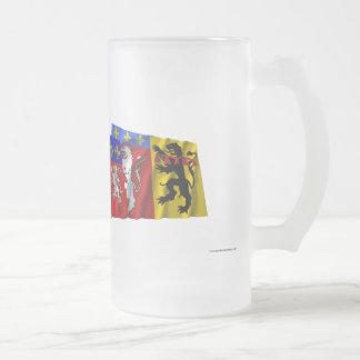 Banderas de Rhône, de Rhône Alpes y de Francia Tazas De Café