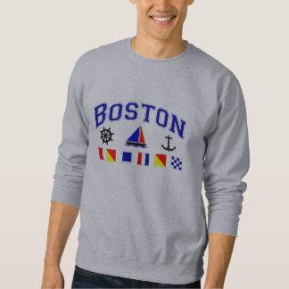 Banderas de señal de Boston Sudadera