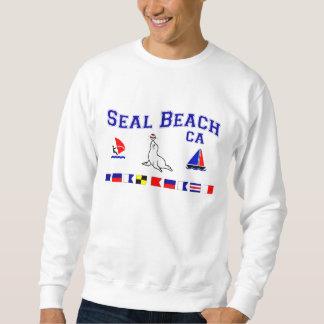 Banderas de señal de CA de la playa del sello Sudadera