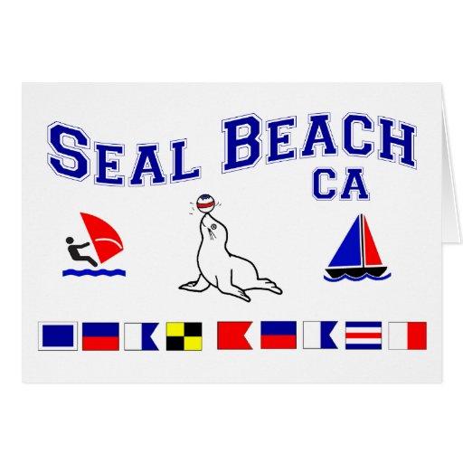 Banderas de señal de CA de la playa del sello Felicitaciones