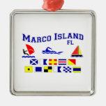Banderas de señal de FL de la isla de Marco Ornamento Para Arbol De Navidad