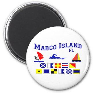 Banderas de señal de FL de la isla de Marco Iman De Frigorífico