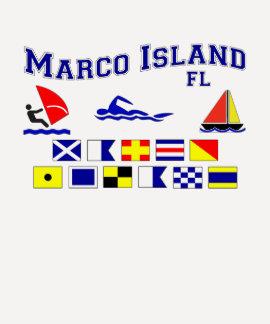 Banderas de señal de FL de la isla de Marco Camisetas