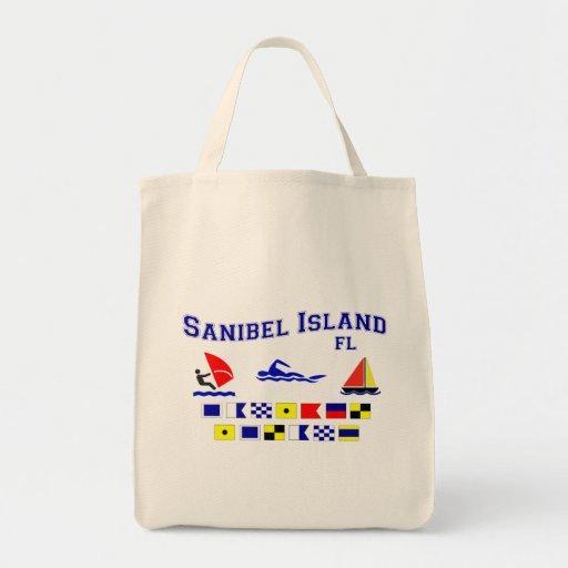Banderas de señal de FL de la isla de Sanibel Bolsa De Mano