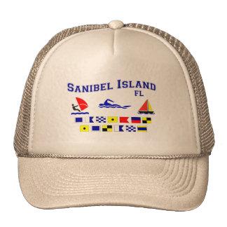 Banderas de señal de FL de la isla de Sanibel Gorra