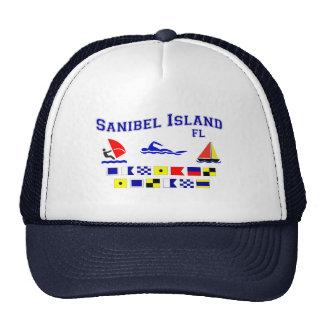 Banderas de señal de FL de la isla de Sanibel Gorras De Camionero