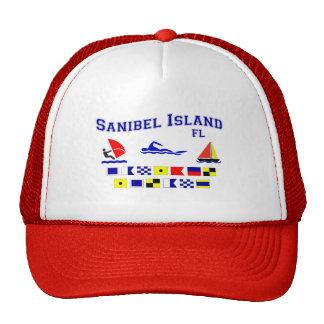 Banderas de señal de FL de la isla de Sanibel Gorros