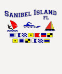 Banderas de señal de FL de la isla de Sanibel Camisetas