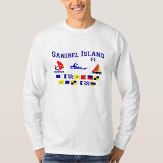Banderas de señal de FL de la isla de Sanibel Playera