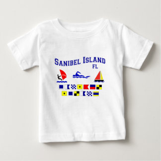 Banderas de señal de FL de la isla de Sanibel Playera De Bebé