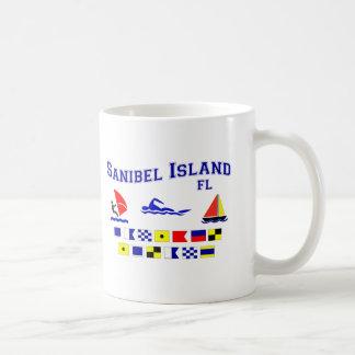 Banderas de señal de FL de la isla de Sanibel Taza Clásica