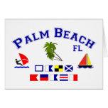 Banderas de señal de FL del Palm Beach Tarjetas