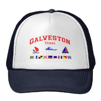 Banderas de señal de Galveston TX Gorro De Camionero