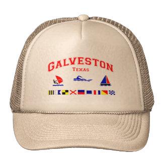 Banderas de señal de Galveston TX Gorra