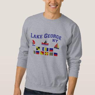 Banderas de señal de George NY del lago Pull Over Sudadera