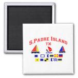 Banderas de señal de la isla TX de S Padre Imán Cuadrado