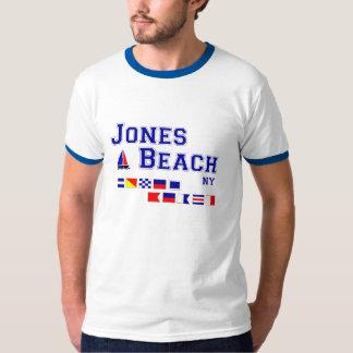 Banderas de señal de la playa NY de Jones Camisas