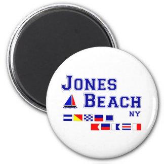 Banderas de señal de la playa NY de Jones Imán Redondo 5 Cm
