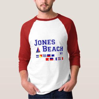 Banderas de señal de la playa NY de Jones Playeras
