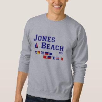 Banderas de señal de la playa NY de Jones Suéter