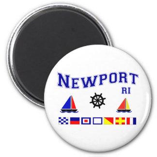 Banderas de señal de Newport Imán Redondo 5 Cm