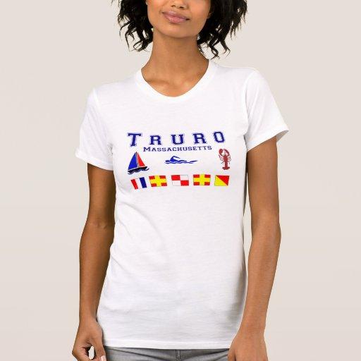 Banderas de señal de Truro mA Camisetas