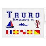 Banderas de señal de Truro mA Felicitaciones