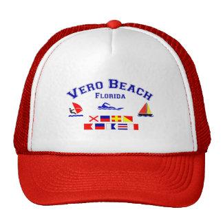 Banderas de señal de Vero Beach FL Gorro De Camionero