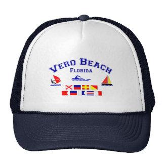 Banderas de señal de Vero Beach FL Gorras De Camionero