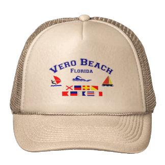 Banderas de señal de Vero Beach FL Gorros Bordados