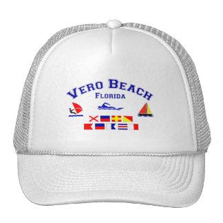 Banderas de señal de Vero Beach FL Gorra