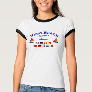 Banderas de señal de Vero Beach FL Playeras