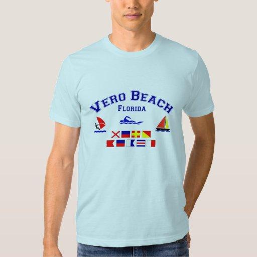 Banderas de señal de Vero Beach FL Polera