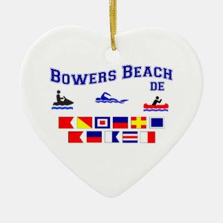 Banderas de señal del DE de la playa de las Adorno Navideño De Cerámica En Forma De Corazón