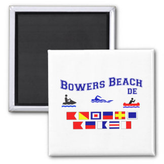 Banderas de señal del DE de la playa de las glorie Imán Cuadrado