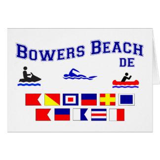 Banderas de señal del DE de la playa de las glorie Tarjeta De Felicitación