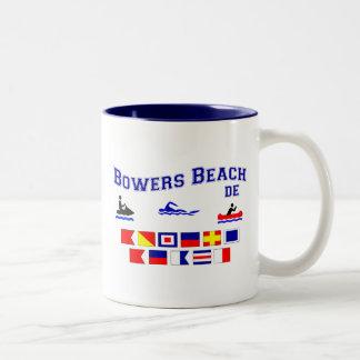 Banderas de señal del DE de la playa de las Taza De Dos Tonos