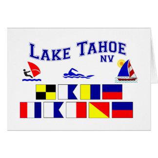 Banderas de señal del lago Tahoe nanovoltio Tarjetón