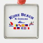Banderas de señal del NC de la playa de Kure Ornamento Para Arbol De Navidad