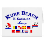Banderas de señal del NC de la playa de Kure Tarjetas