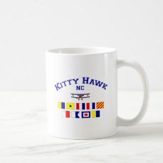 Banderas de señal del NC Kitty Hawk Taza