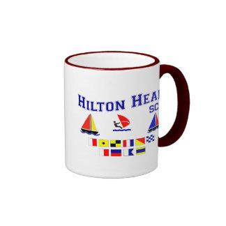 Banderas de señal del SC de Hilton Head Taza De Dos Colores