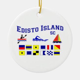 Banderas de señal del SC de la isla de Edisto Ornamente De Reyes